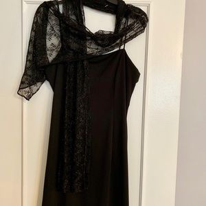 Beautiful Asymmetrical Black Dress